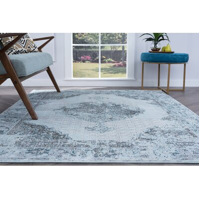 Dominick Transitional Gray Area Rug Rug Size: 53 x 73
