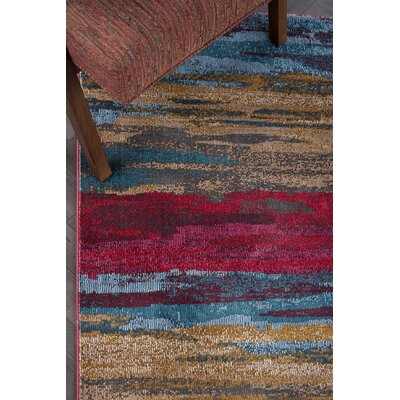 Ceasar Modern Yellow/Pink Area Rug Rug Size: Rectangle 53 x 73