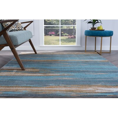 Ceasar Modern Blue Area Rug Rug Size: Rectangle 53 x 73