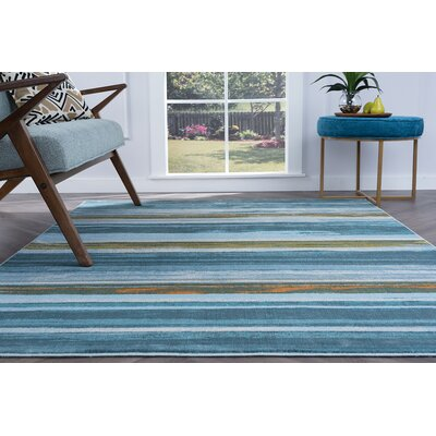 Ceasar Contemporary Blue Area Rug Rug Size: Rectangle 710 x 103