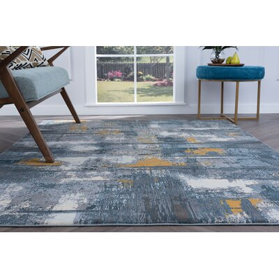 Ceasar Contemporary Gray Area Rug Rug Size: Rectangle 53 x 73