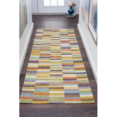 Asdsit Green Area Rug Rug Size: Rectangle 53 x 73