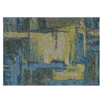 Asdsit Blue Area Rug Rug Size: 2 x 3