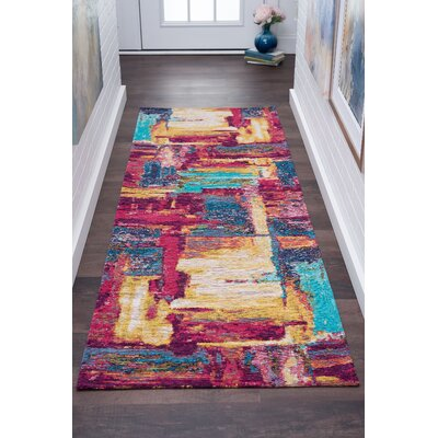 Asdsit Pink Area Rug Rug Size: Rectangle 67 x 96