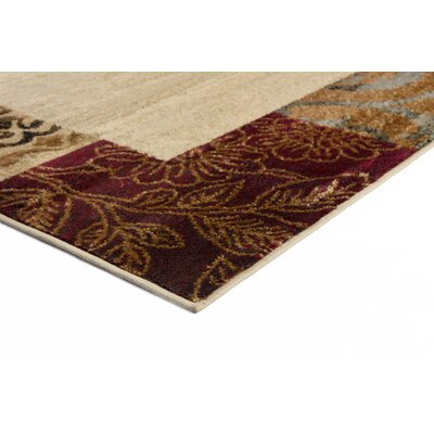 Stromberg Beige 6 ft. 7 in. x 9 ft. 6 in. Oval Transitional Area Rug Rug Size: Rectangle 93 x 126