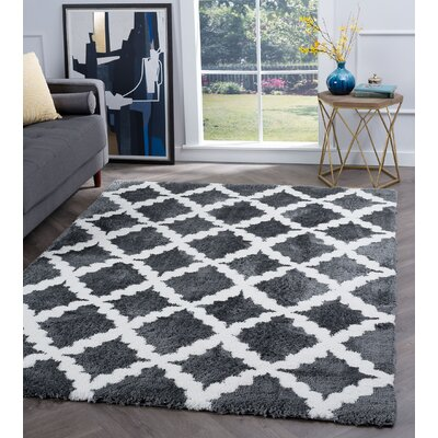 Arthemus Charcoal/Cream Area Rug Rug Size: Rectangle 53 x 73