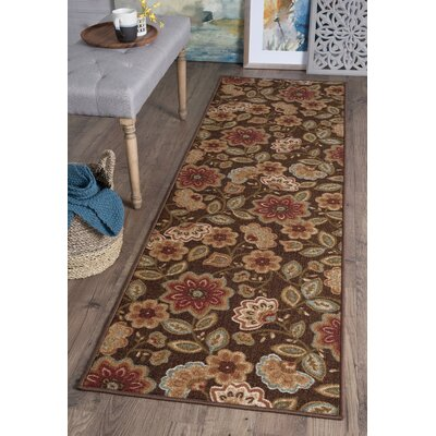 Hosking Brown Area Rug Rug Size: Runner 23 x 76