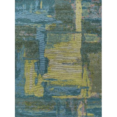 Asdsit Blue Area Rug Rug Size: 53 x 73