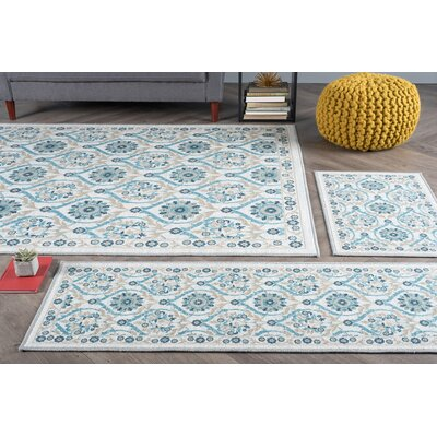 Corrina 3 Piece Cream Area Rug