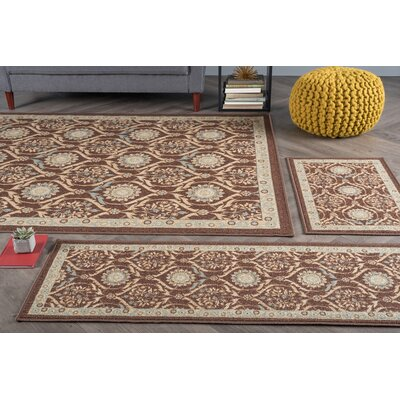 Masonville 3 Piece Brown Area Rug