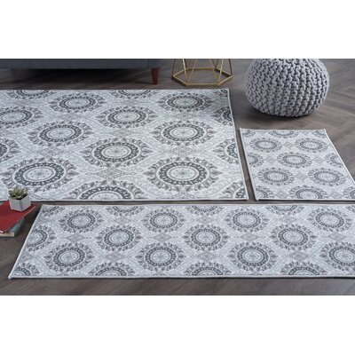 Corrina 4 Piece Ivory Area Rug