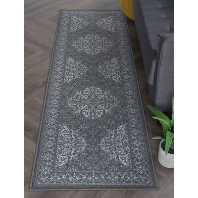 Ashbrook Charcoal Area Rug Rug Size: Runner 23 x 76