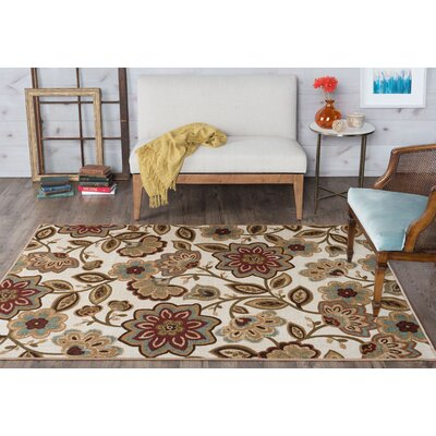 Corrina Cream Floral Area Rug