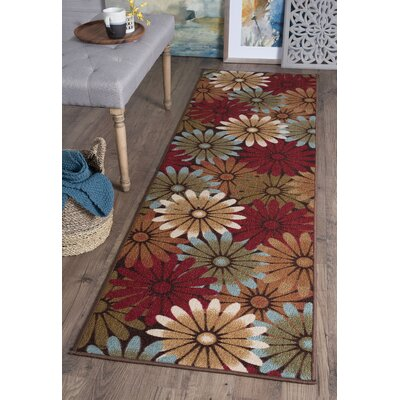 Hosking Red/Brown Area Rug Rug Size: Runner 23 x 76