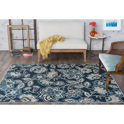 Hosking Navy Area Rug Rug Size: 5 x 7