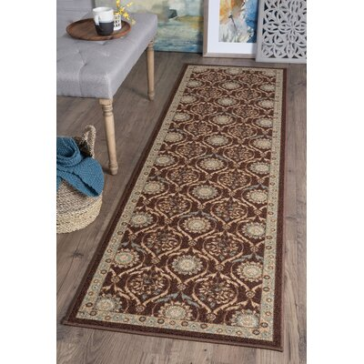 Ashbrook Brown Area Rug Rug Size: Runner 23 x 76