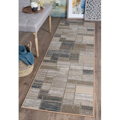 Bade Taupe Area Rug Rug Size: Runner 23 x 11