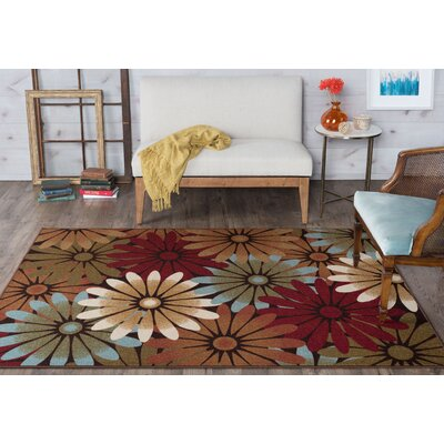 Hosking Red/Brown Area Rug Rug Size: 67 x 96