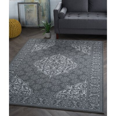 Amy 3 Piece Charcoal Area Rug
