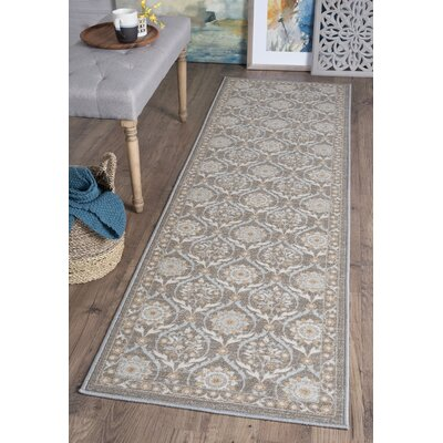 Ashbrook Taupe Area Rug Rug Size: Runner 23 x 76