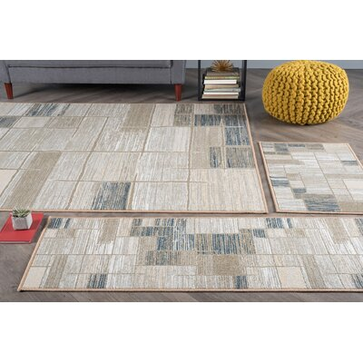 Howser 3 Piece Taupe Area Rug