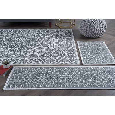 Warrensville 4 Piece Gray Area Rug