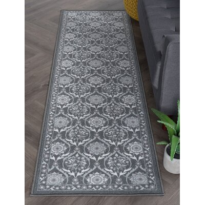 Ashbrook Charcoal Area Rug Rug Size: Runner 23 x 11