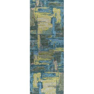 Asdsit Blue Area Rug Rug Size: 33 x 5