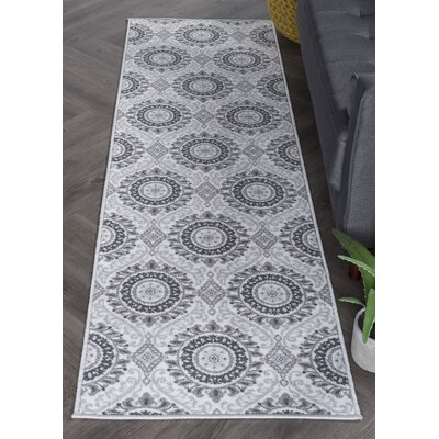 Ashbrook Ivory/Gray Area Rug Rug Size: Runner 23 x 11