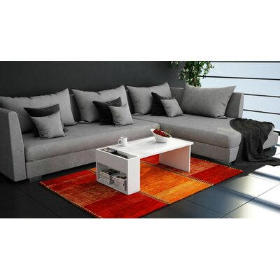 Pyxis Modern Coffee Table Base Color: White Melamine