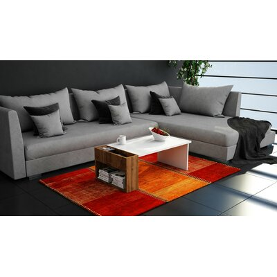 Pyxis Modern Coffee Table Base Color: White/Brown Melamine