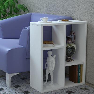 Bail End Table Color: White