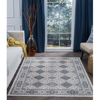 Dolphus Oriental Scatter Cream Area Rug Rug Size: Rectangle 9 x 13