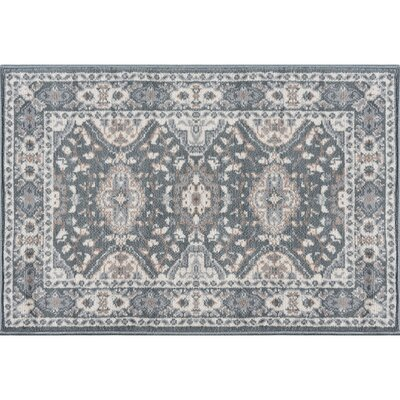 Dolphus Oriental Scatter Dark Gray Area Rug Rug Size: Rectangle 8 x 10