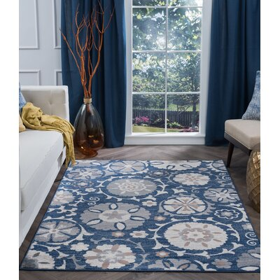Majoros Oriental Scatter Navy Area Rug Rug Size: Rectangle 8 x 10