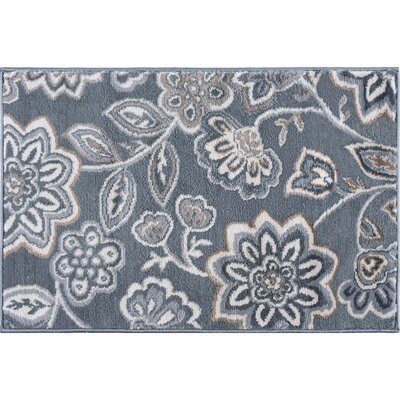 Majoros Modern Floral Gray Area Rug Rug Size: Rectangle 5 x 7