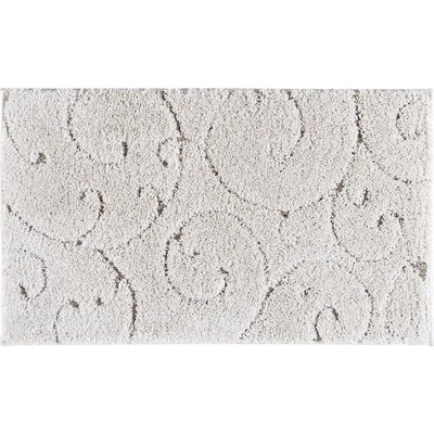 Edda Scrollwork Scatter Cream Area Rug Rug Size: Rectangle 2' x 3'