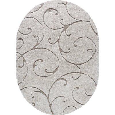 Edda Scrollwork Scatter Cream Area Rug Rug Size: Oval 5 x 8