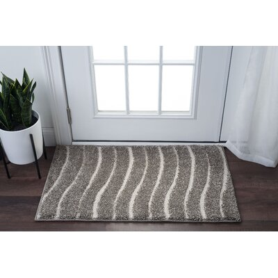 Nassauer Scrollwork Scatter Gray/Cream Area Rug Rug Size: Rectangle 2 x 3