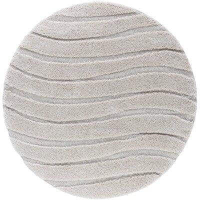 Nassauer Scrollwork Scatter Cream Area Rug Rug Size: Round 6