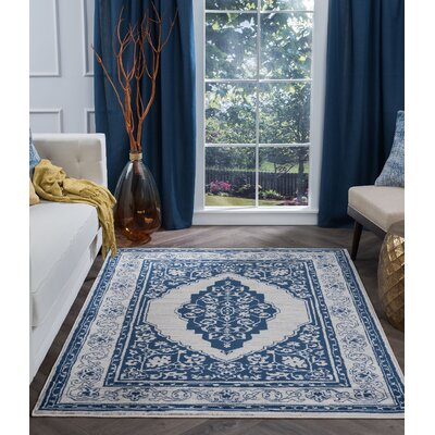 Dolphus Oriental Jute/Sisal Navy Area Rug Rug Size: Rectangle 9 x 13