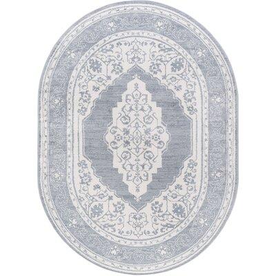 Dolphus Modern Oriental Cream Area Rug Rug Size: Oval 5 x 8