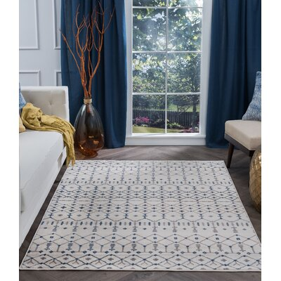 Topanga Oriental Cream Area Rug Rug Size: Rectangle 2 x 3