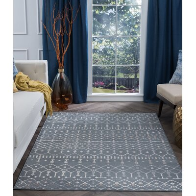 Topanga Oriental Dark Gray Area Rug Rug Size: Rectangle 9 x 13