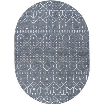 Topanga Oriental Dark Gray Area Rug Rug Size: Oval 5 x 8