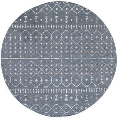 Topanga Oriental Dark Gray Area Rug Rug Size: Round 6