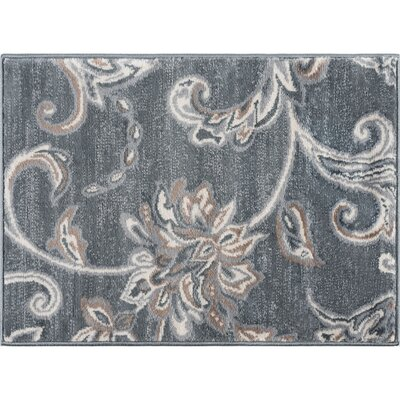 Dolphus Oriental Dark Gray Area Rug Rug Size: Rectangle 5 x 7
