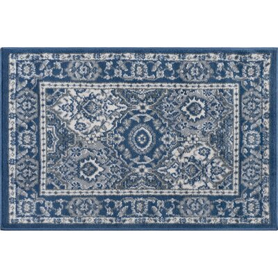 Dolphus Traditional Oriental Navy Area Rug Rug Size: Rectangle 9 x 13
