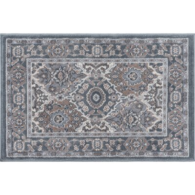 Dolphus Traditional Oriental Gray Area Rug Rug Size: Rectangle 5 x 7
