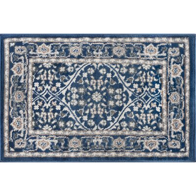 Dolphus Oriental Navy Area Rug Rug Size: Rectangle 2 x 3